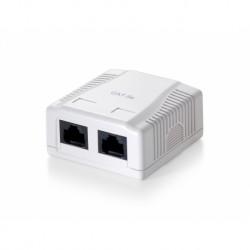 Tomada Equip rede 2-port UTP cat6