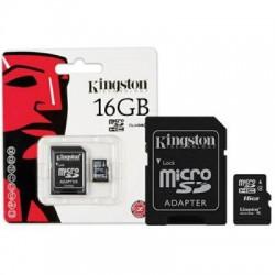 Cartão De Memória MicroSDHC KINGSTON - 16GB