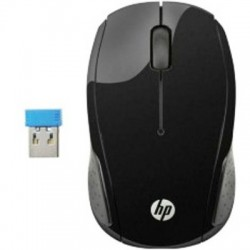 Rato Óptico HP 200 Wireless Preto
